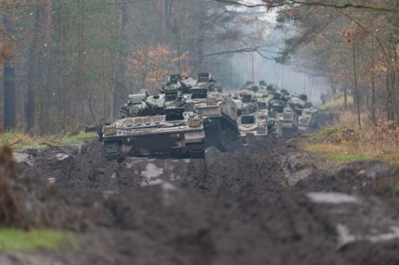 British Army Flexes its armour in Poland exercise.