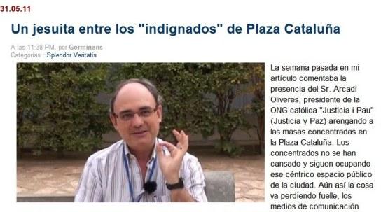 un jesuita entre los indignados de plaza cataluña2