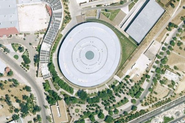 An+aerial+view+of+Madrid+Arena