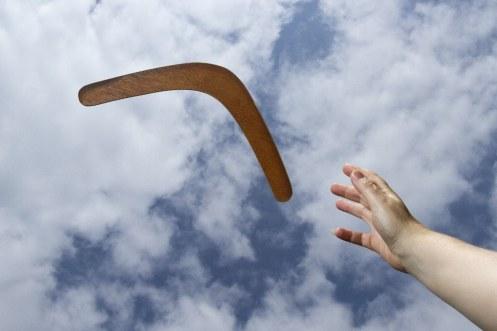 Boomerang-in-Flight