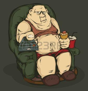 14655710-el-gordo-est-sentado-en-una-silla-con-el-control-remoto-en-la-mano-colorear-la-imagen