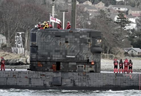 HMS Trenchant - Off Rhu Spit - 13 February 2012