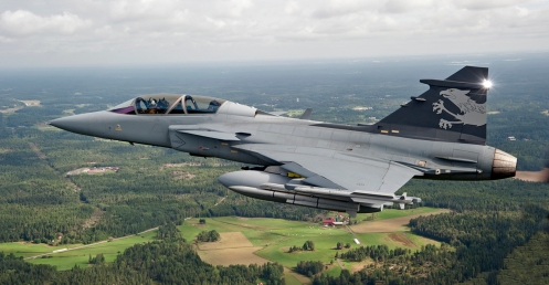Gripen test platsform NG with new droptanks