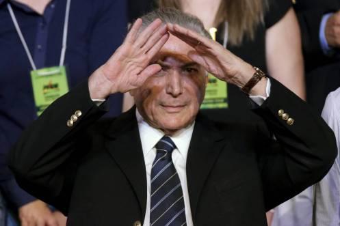 """El illuminati sionista Michel Temer, denunciado como traidor y usurpador por Dilma Roussef, y contratador de las empresas de """"seguridad"""" israelíes."""