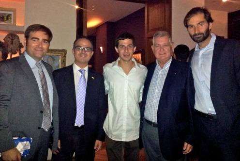 Guilad Shalit amb Jordi Turull, Uriel Benguigui, Simon Emergui i Toni Florido