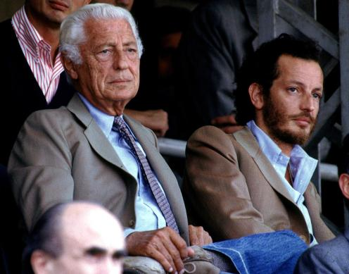 FILE PICTURE OF FIAT'S HONORARY CHAIRMAN GIOVANNI AGNELLI AND HIS SON EDOARDO