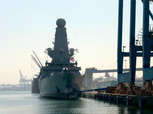 HMS DARING visits Haifa