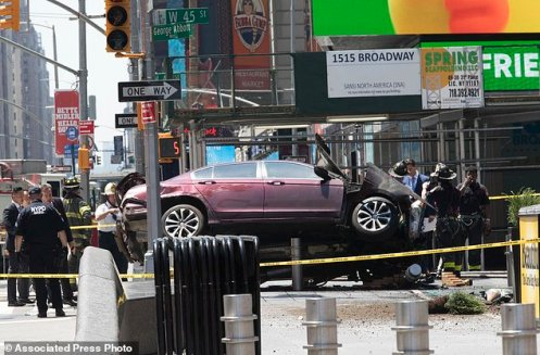 APTOPIX Times Square Crash