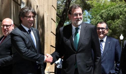 RAJOY Y PUIGDEMONT ALMUERZAN CON DIRECTIVOS DEL SECTOR DEL AUTOMÓVIL