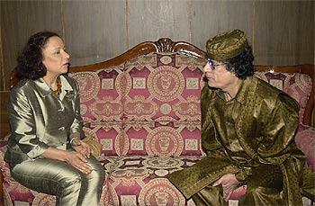 Palacio con Gadafi