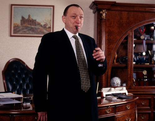 Moscow, Russia, December 1999. Aluminium mogul and business tycoon Lev Chernoy.