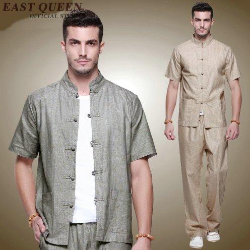 Gris-Nacional-Chino-Hombres-Tai-Chi-Kung-fu-outfit-font-b-Uniforme-b-font-Conjunto-Ropa