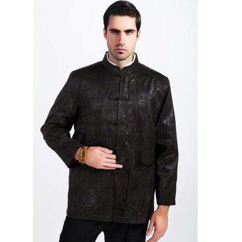 Tradisional-Cina-Pria-Silk-Rayon-merah-Bau-Baju-Mandarin-Kerah-jaket-Mantel-Handmade-Tombol-Mantel-Ukuran