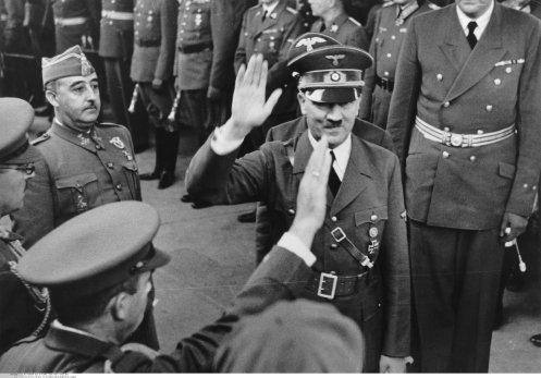 Hitler/Franco in Hendaye - Bei der Begrüssung der Begleiter des Caudillo