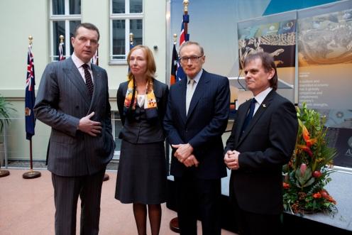 with Amb Tesch German FO state secretary Emily Haber OAM recipient Dr Henschel