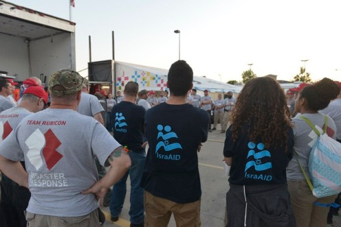 ISRAaid helping on the ground after the Hurricane in Texas (illustrativae)