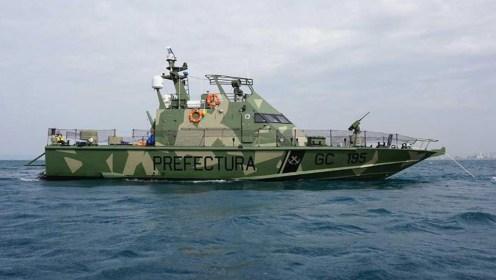 Lancha-artilladas-Israelí-Shalgag-MKII-navegando-en-el-litoral-argentino-1
