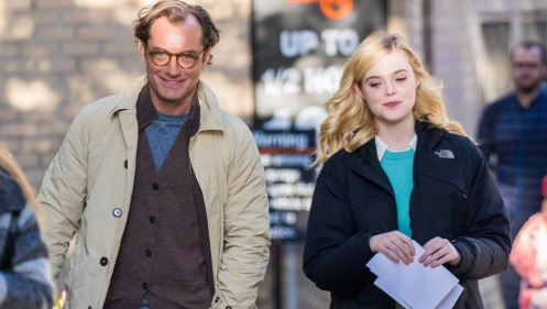 Elle Fanning and Jude Law Get in Character on Set for Woody Allen's New Film