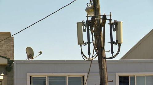 Cellphone mini-tower outside a San Francisco residence. (CBS)