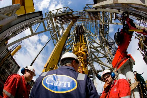 Drillers on the Stena Don drilling rig, Cairn Energy